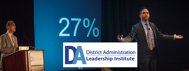 Michael Moody and Jason Stricker present at District Administration Leadership Institute