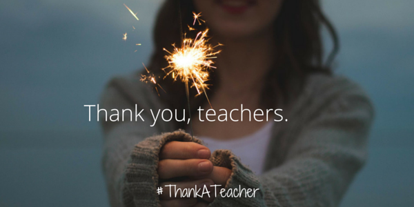 Thank you, teachers #ThankATeacher