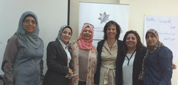 Photo: Superintendent Kelly Lyman with Jordanian school leaders.