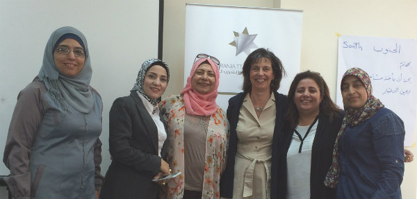 Photo: Superintendent Kelly Lyman with Jordanian school leaders.