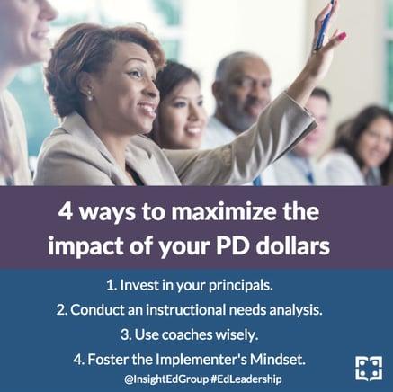 Return on Investment (ROI) on professional development (PD)